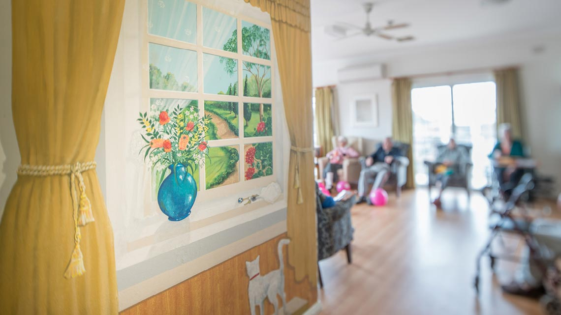 Bupa Aged Care Bexley mural