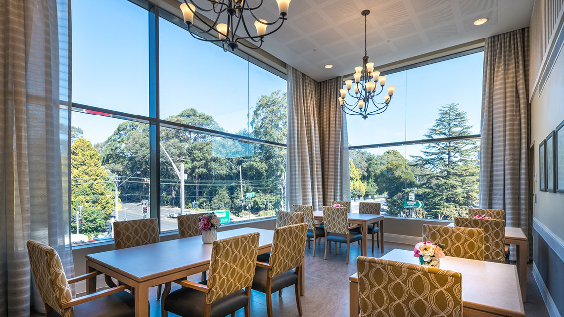 Bupa Aged Care St Ives Dining Room