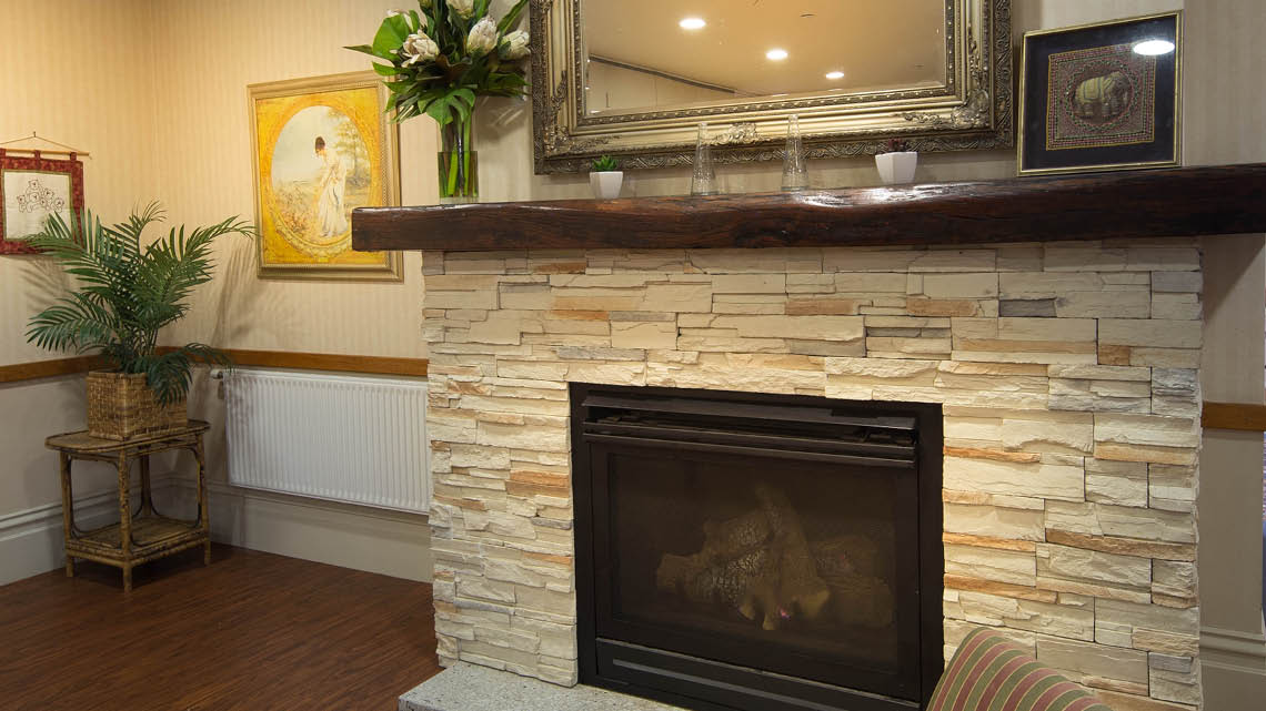 Bupa Aged Care Woodend fireplace