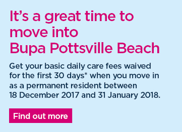Get your basic daily care fees waived for the first 30 days* when you move in as a permanent resident between 11 Dec 2017 and 1 Jan 2018